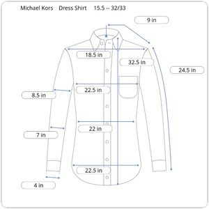 Michael Kors Shirts - Michael Kors Dress Shirt 15.5 Regular Fit Yellow